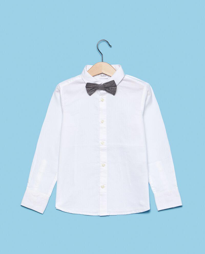 Camicia in puro cotone con papillon bambino cover