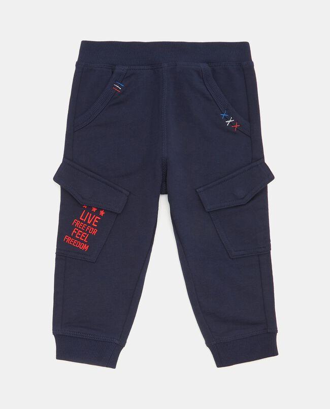 Pantaloni cargo in tinta unita