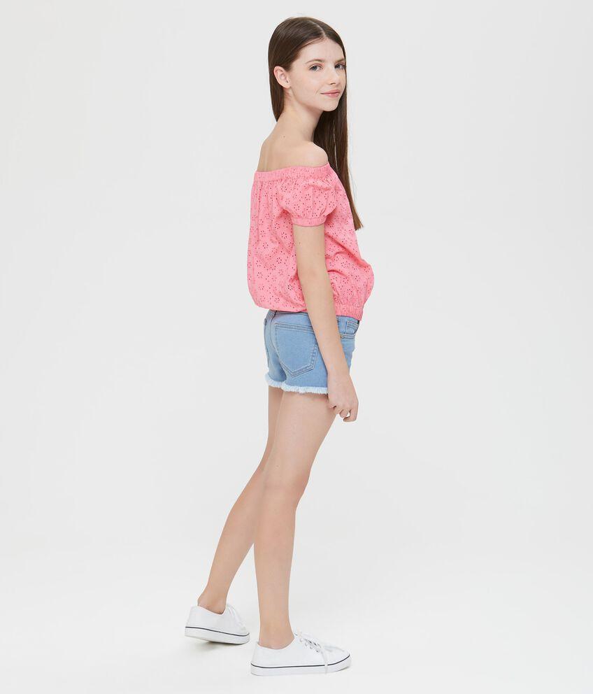 T-Shirt maniche corte a spalle scoperte