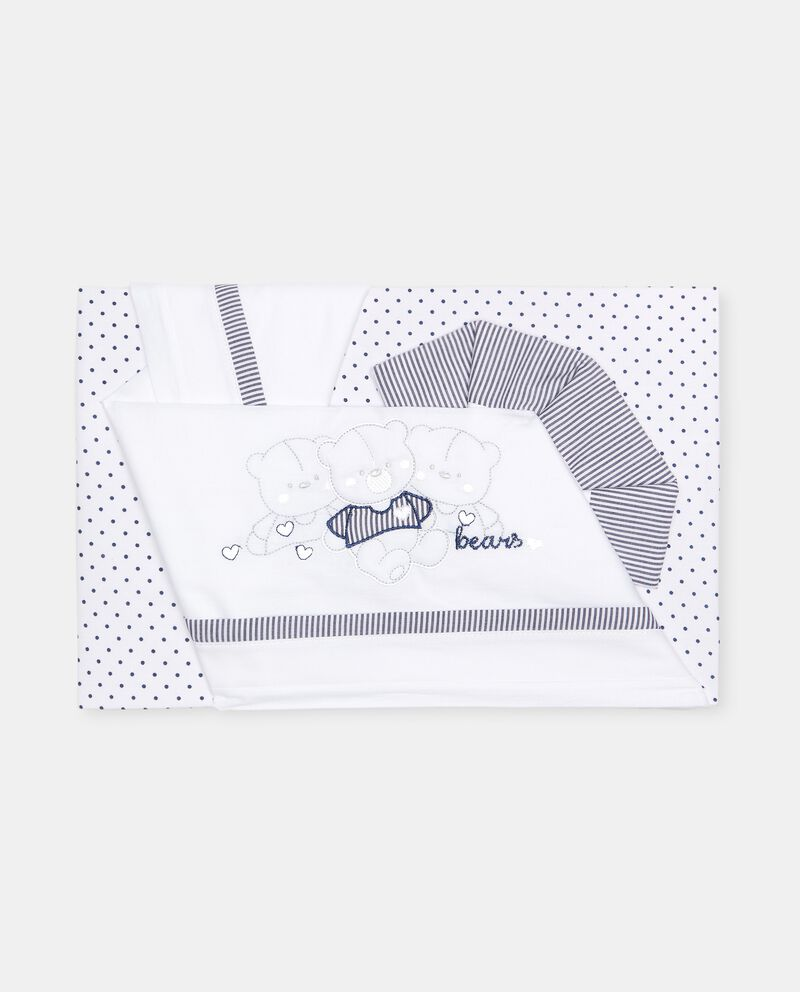 Tris culla in cotone con ricamo cover