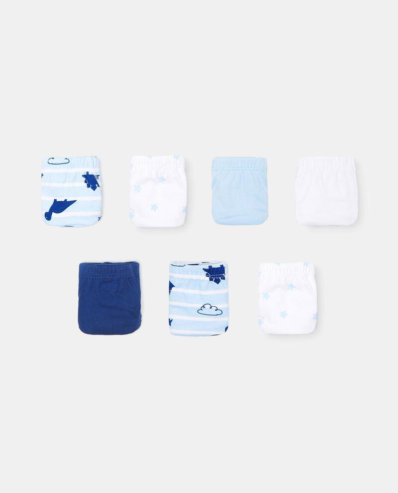 Set con 7 slip di cotone organico bambino cover