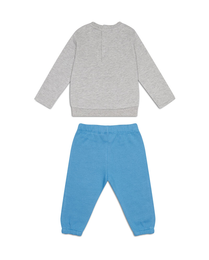 Tuta felpa e pantaloni cotone stampata