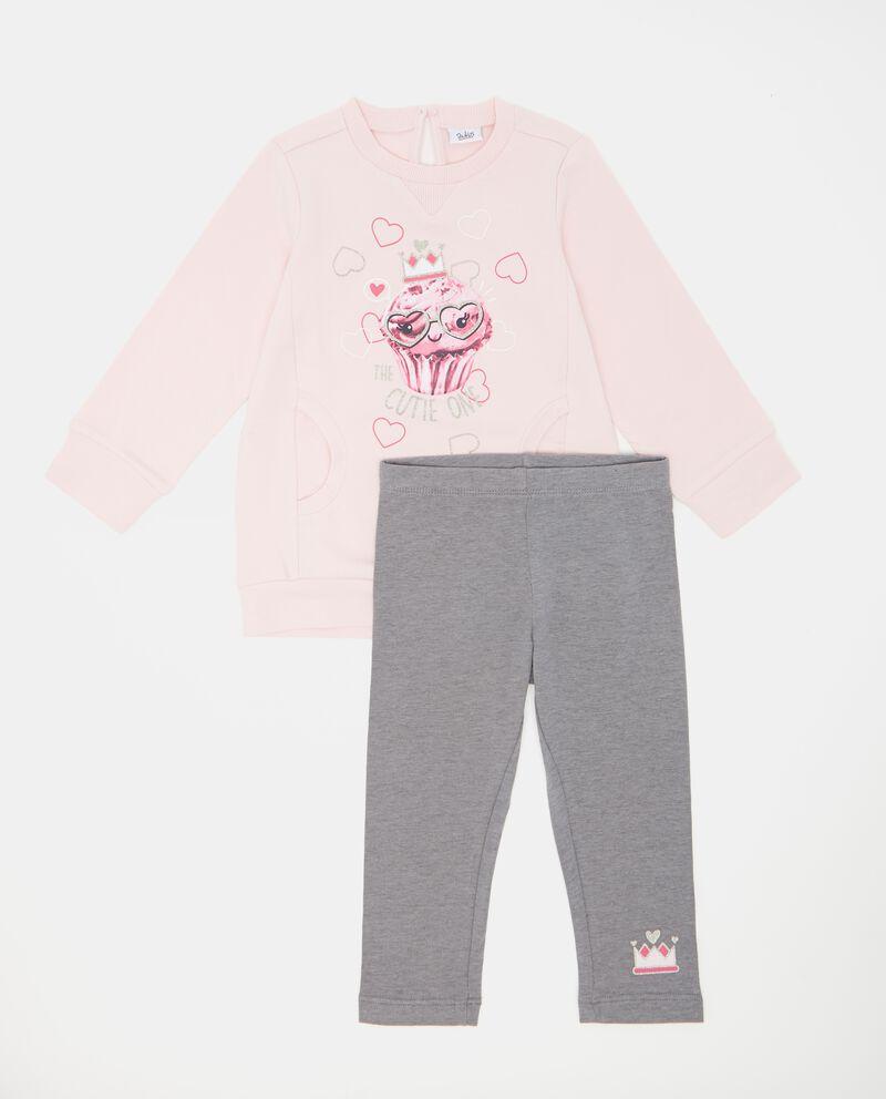 Set felpa e leggings neonata