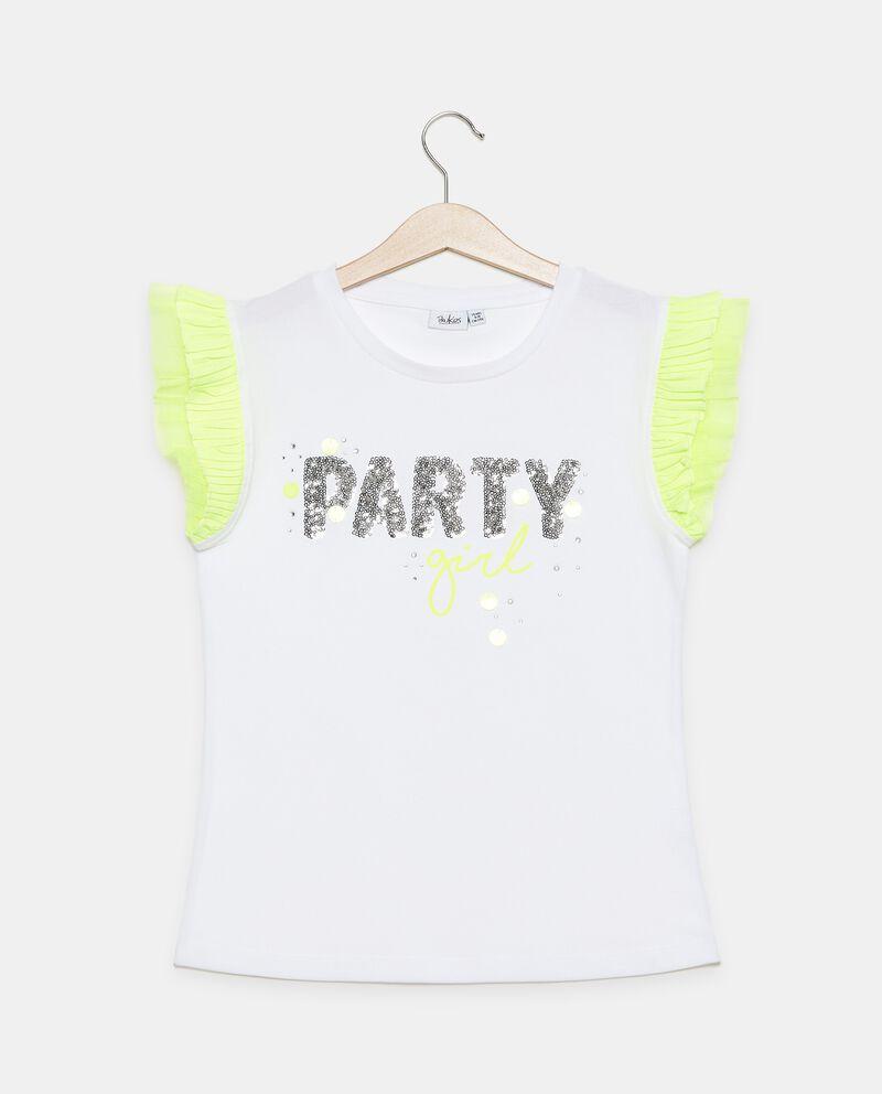T-shirt in cotone organico jersey stretch ragazza
