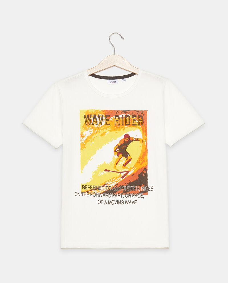 T-shirt stampata in puro cotone ragazzo cover