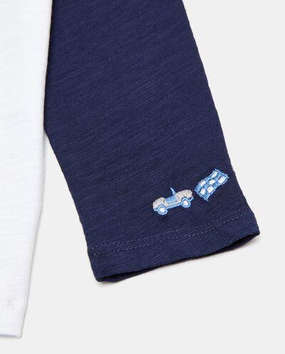 T-shirt manica raglan in cotone organico neonato