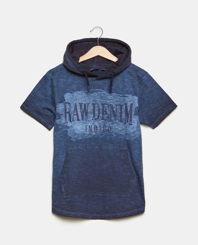 T-shirt con cappuccio in puro cotone
