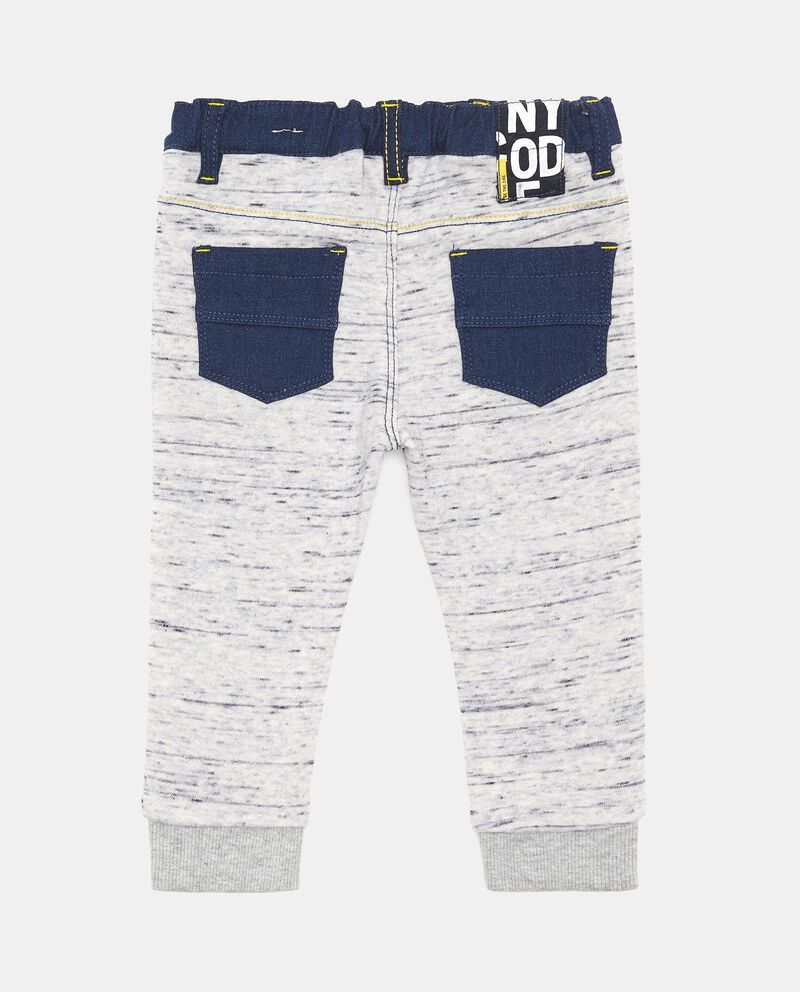 Jeans stretch bicolore con patch