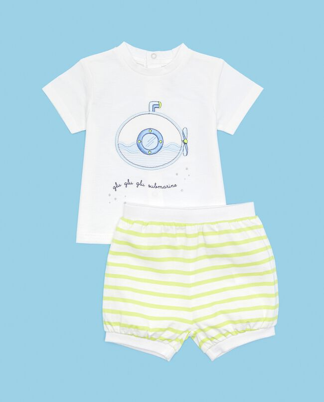 Set in puro cotone t-shirt e shorts