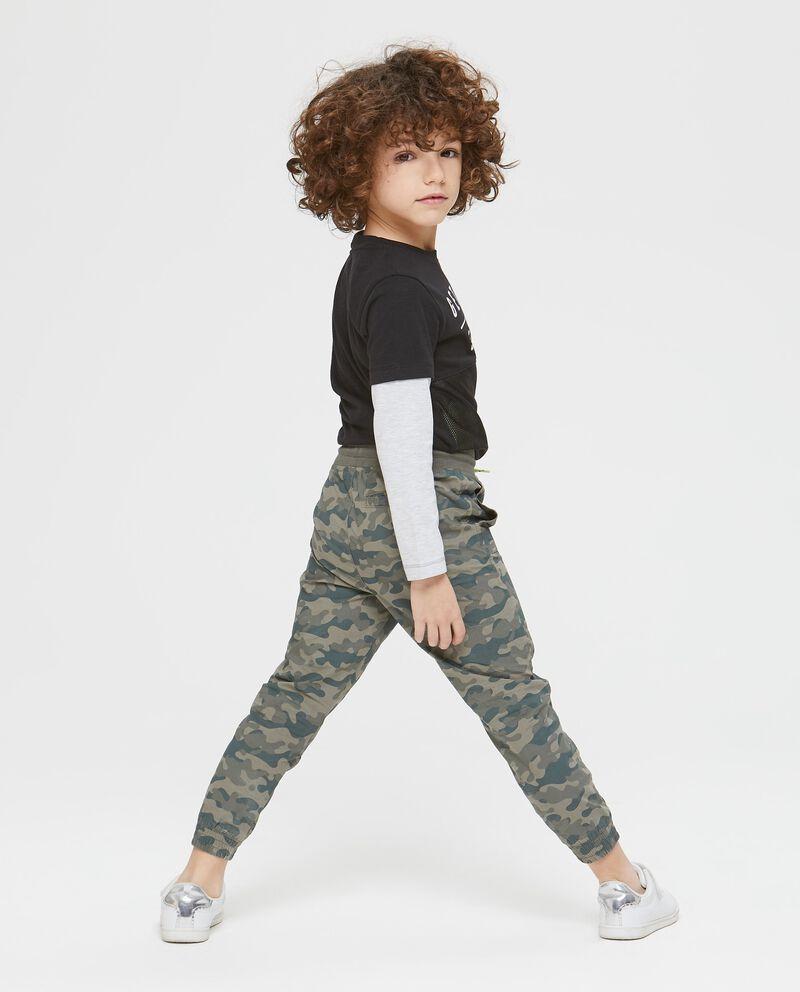 Pantaloni con coulisse camouflage