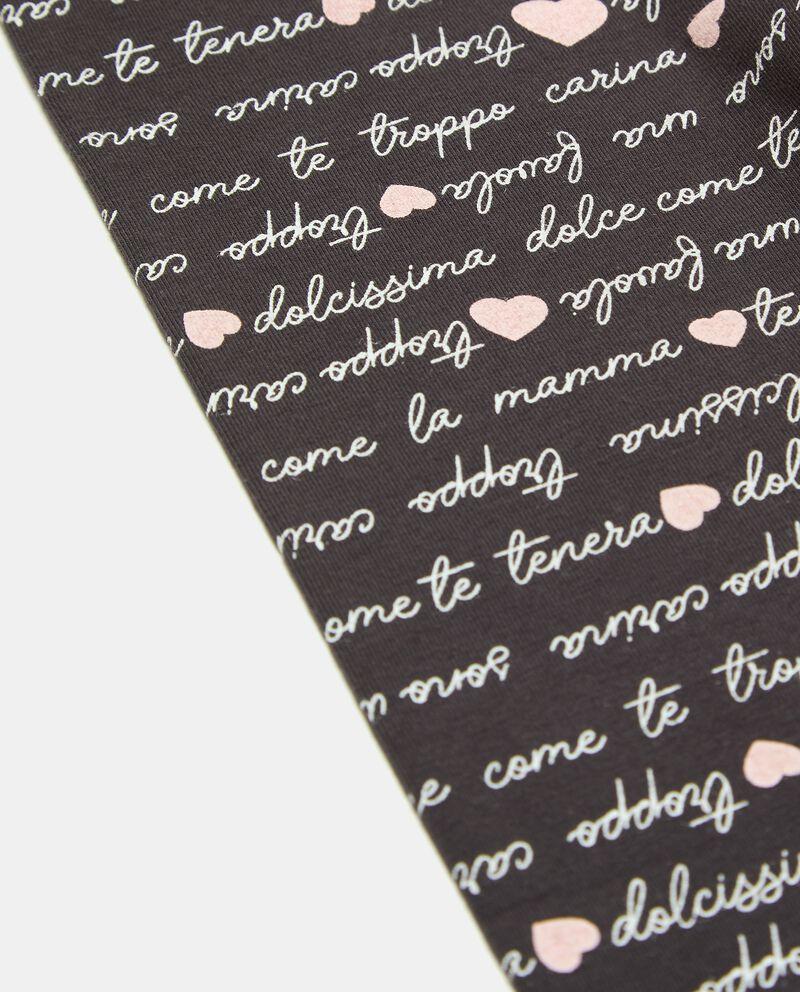 Leggings di cotone organico con stampa lettering neonata single tile 1