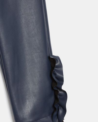 Leggings in eco pelle con ruches bambina detail 1
