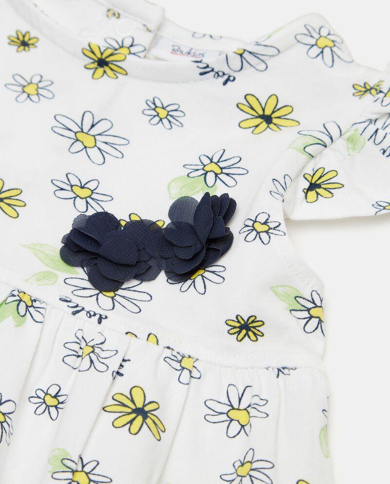 Vestito di cotone organico con maniche ad aletta neonata