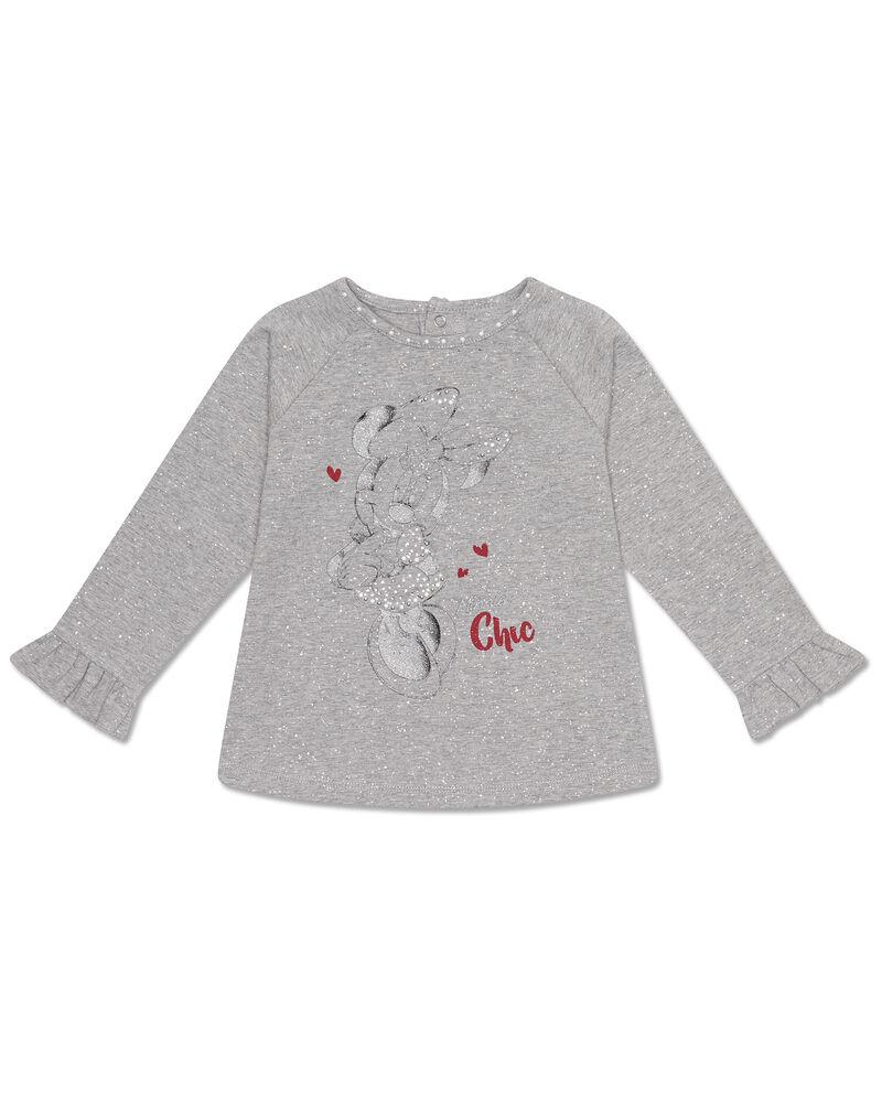 T-shirt stretch glitterata Minnie