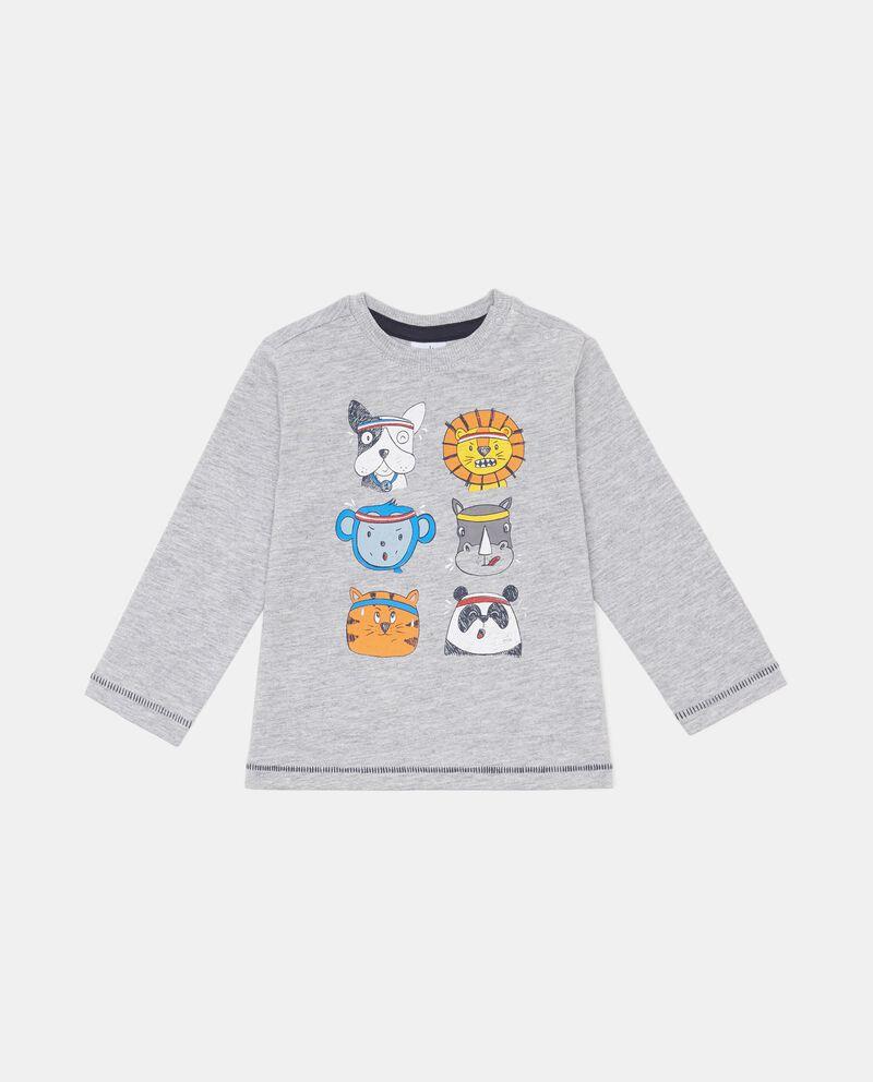 T-shirt mélange stampa animaletti