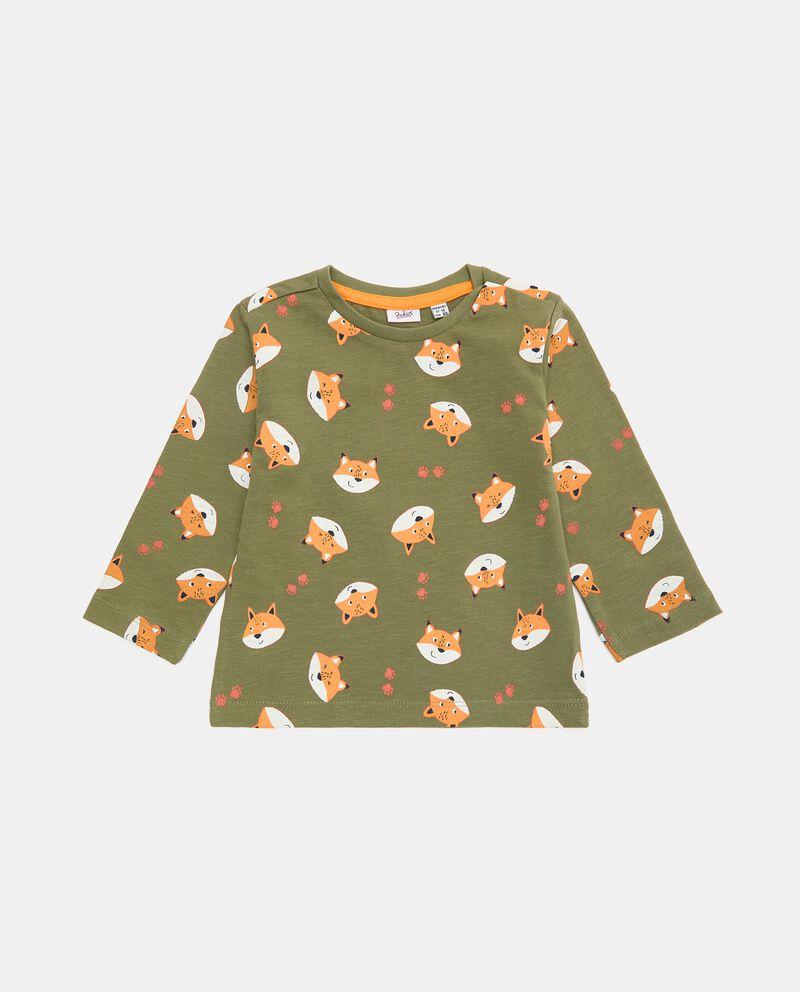 T-shirt di cotone organico con stampa all over neonatodouble bordered 0