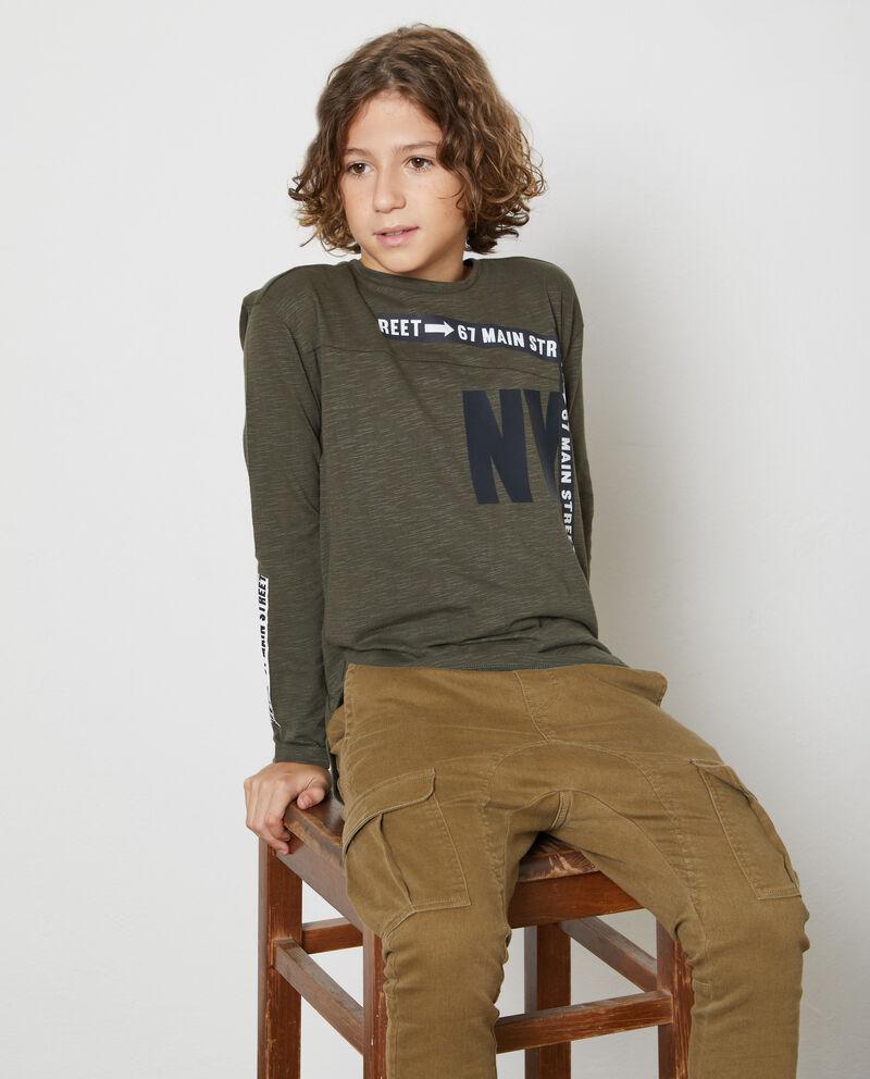 T-shirt maniche lunghe mélange