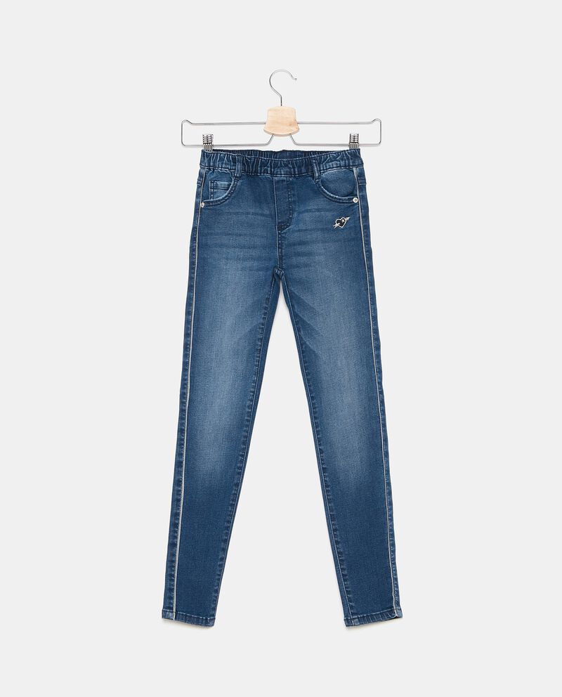 Jeans con fascia elastica bambina cover
