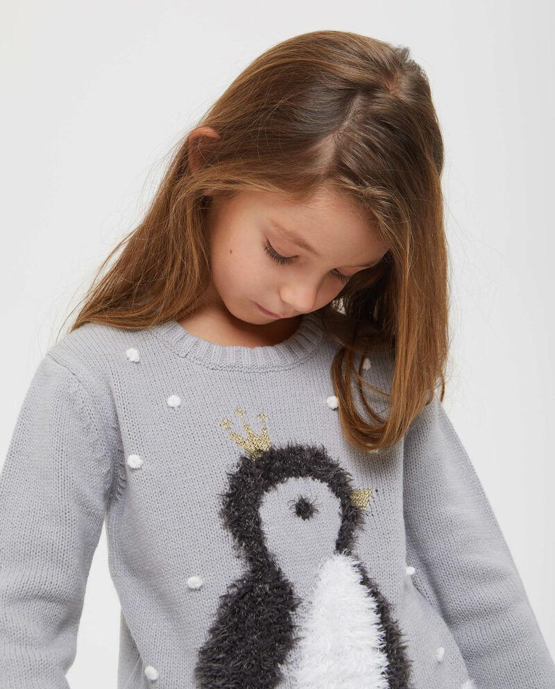 Pullover con lurex pinguino