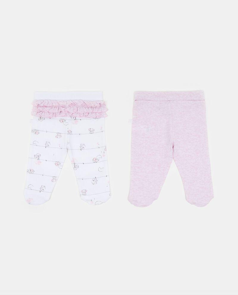 Set due pantaloni con piedini fantasia