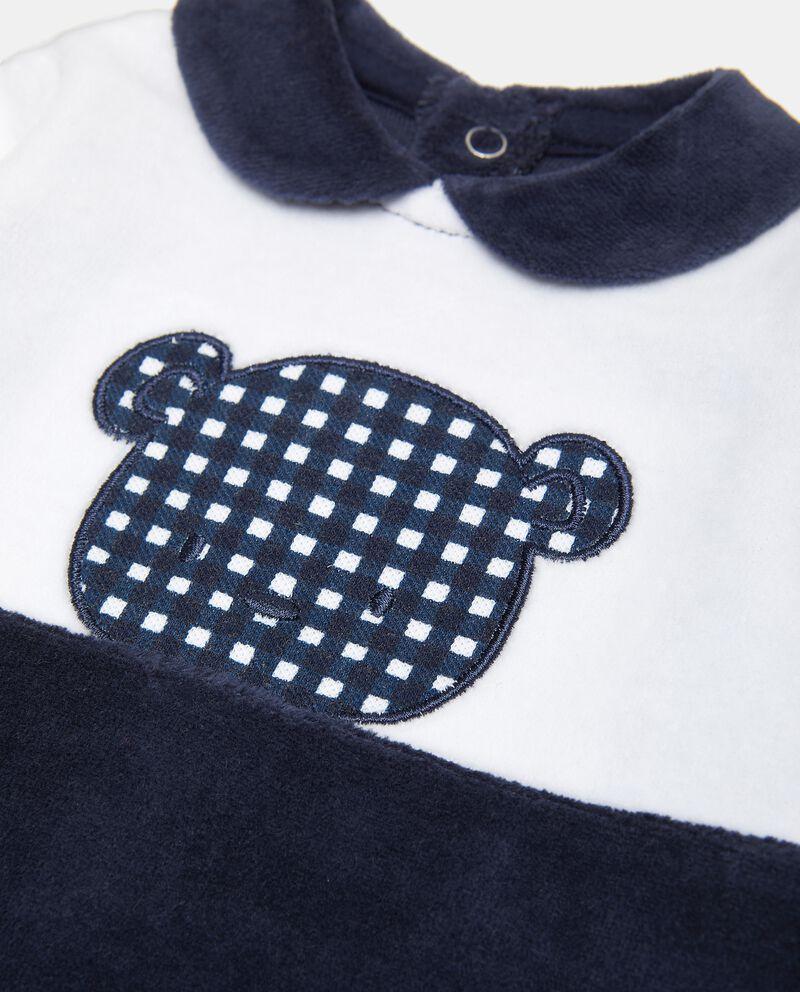 Tutina in cotone con colletto