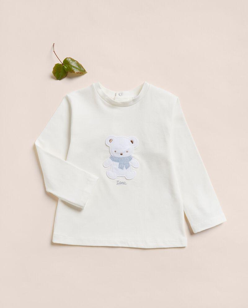 Maglia in jersey con applicazione neonato IANA Made in Italy cover
