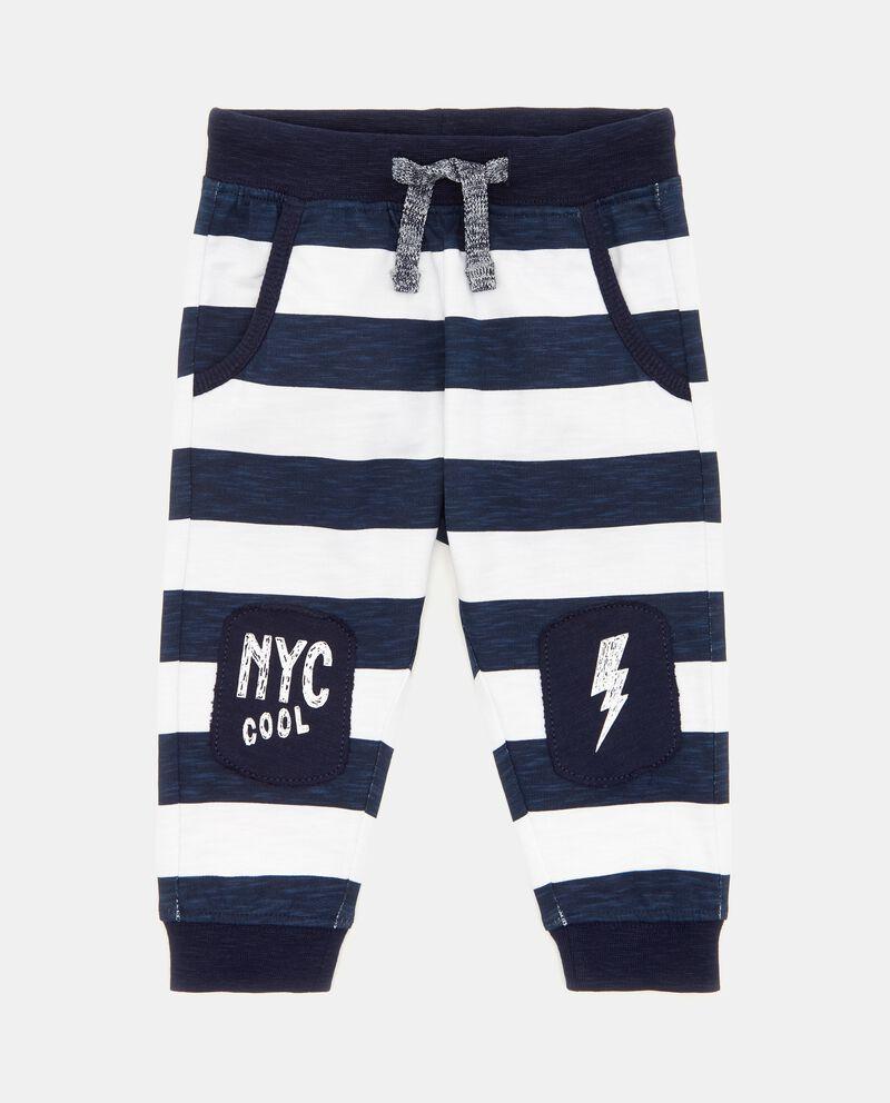 Pantaloni a righe in puro cotone