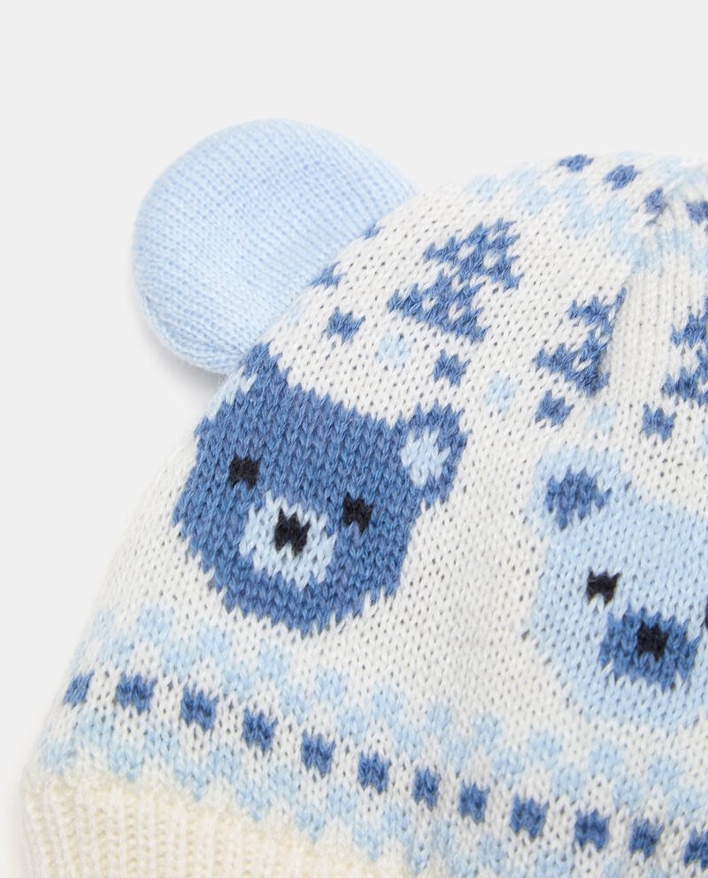 Berretto in maglia con motivo orsetti neonato single tile 1
