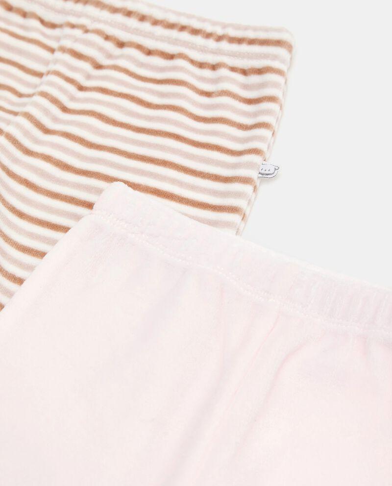 Bipack con 2 pantaloni di cotone biologico single tile 1