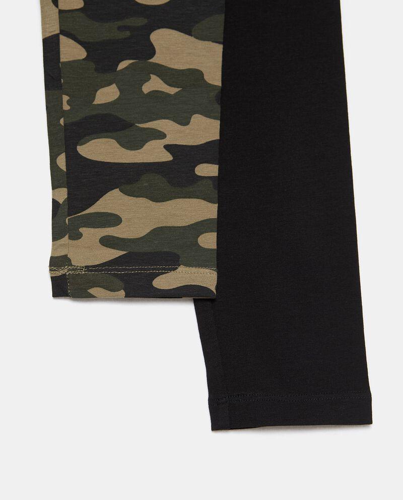 Bipack 2 leggings di cotone biologico stretch ragazza single tile 1