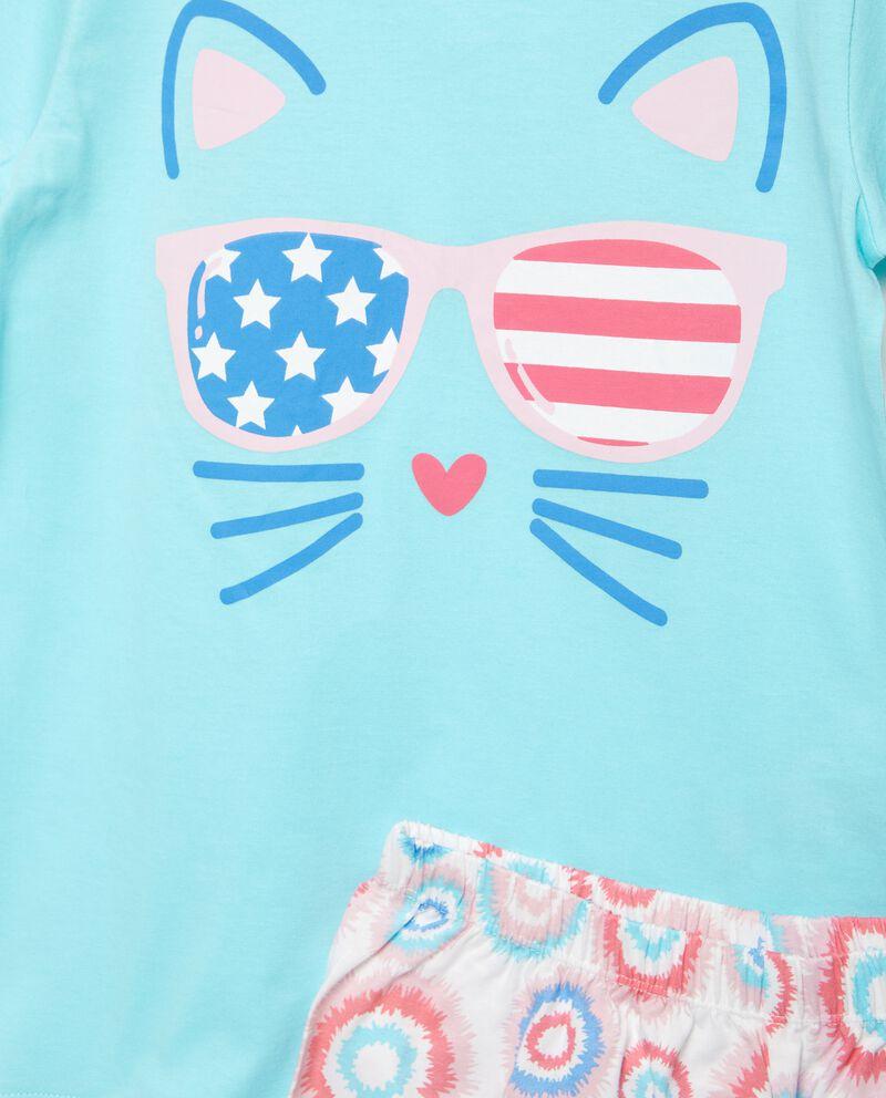 Bipack set pigiami in puro cotone stampati bambina