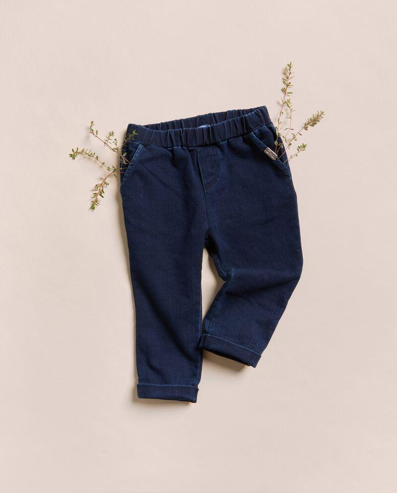 Pantaloni in felpa denim IANA Made in Italydouble bordered 0