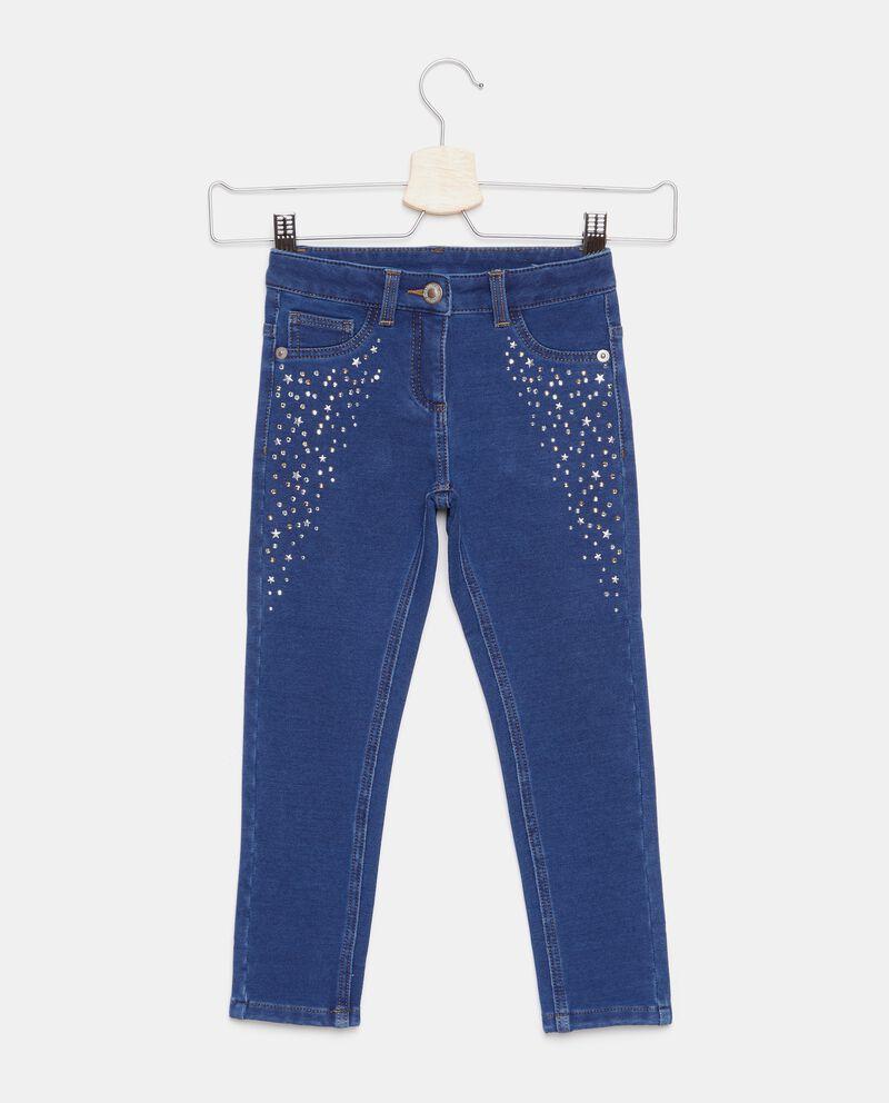 Jeans con strass applicati bambina cover