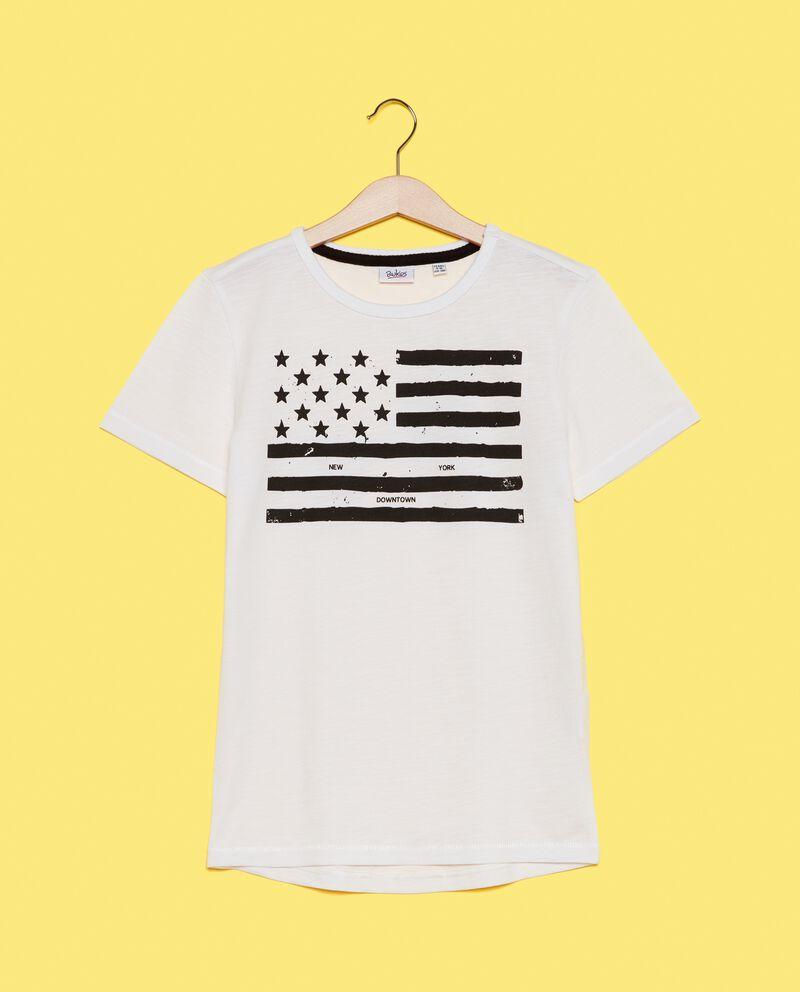 T-shirt in puro cotone a maniche corte