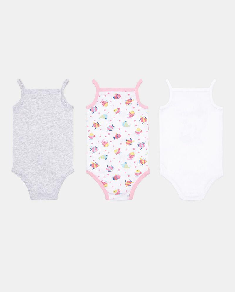 Set 3 body neonati senza maniche