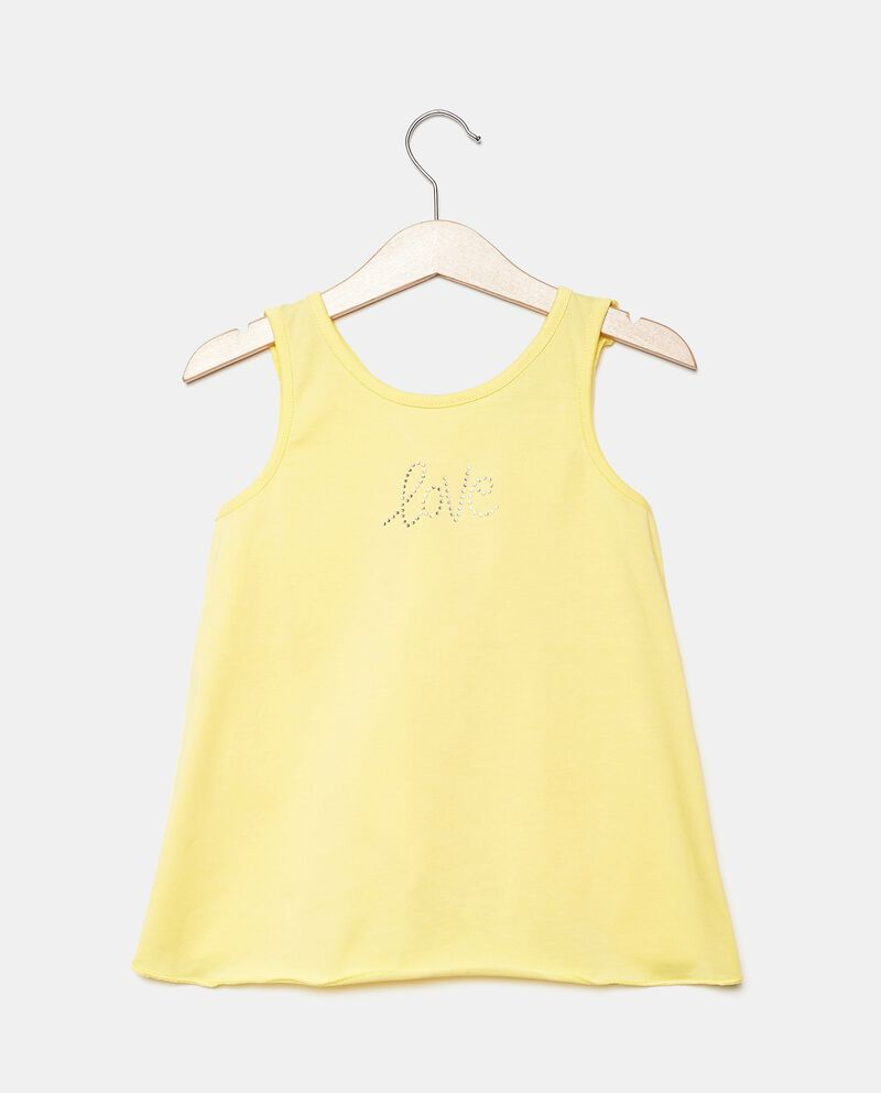 Top smanicato in jersey stretch bambina cover