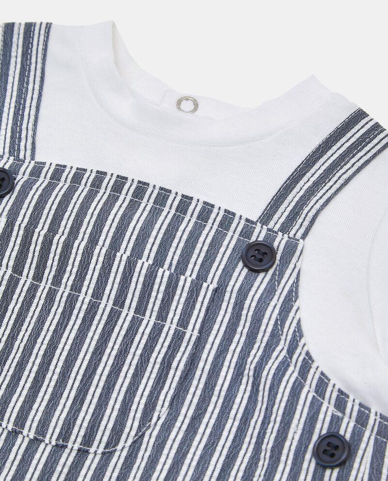 Pagliaccetto in cotone con finta t-shirt