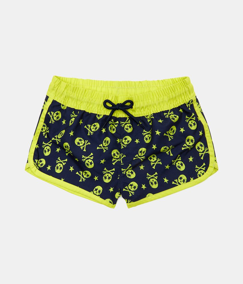 Shorts costume con stampa e coulisse bambino