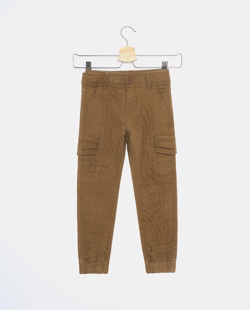 Pantaloni modello cargo tinto in capo bambino cover