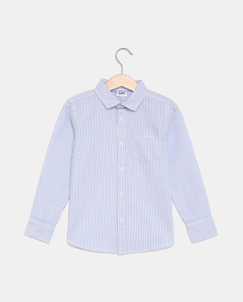 Camicia a righe in puro cotone