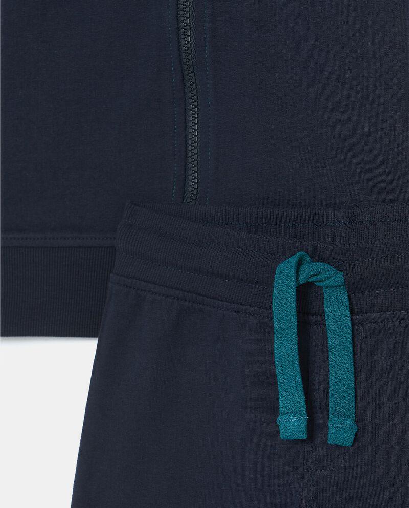 Set con felpa e pantaloni in cotone biologico bambino