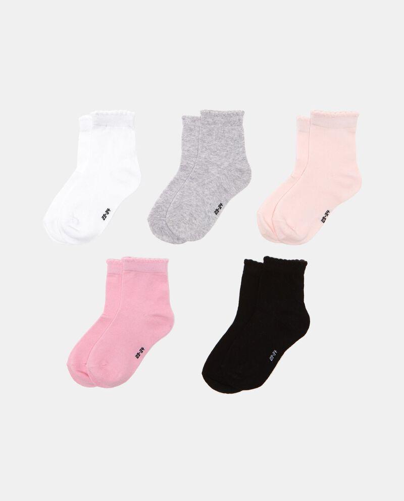 Set cinque paia di calze tinta unita