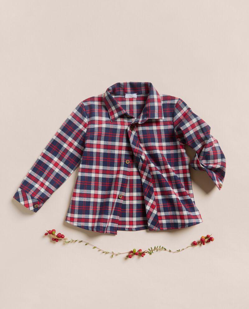Camicia in tartan di vaiella in cotone IANA Made in Italy cover