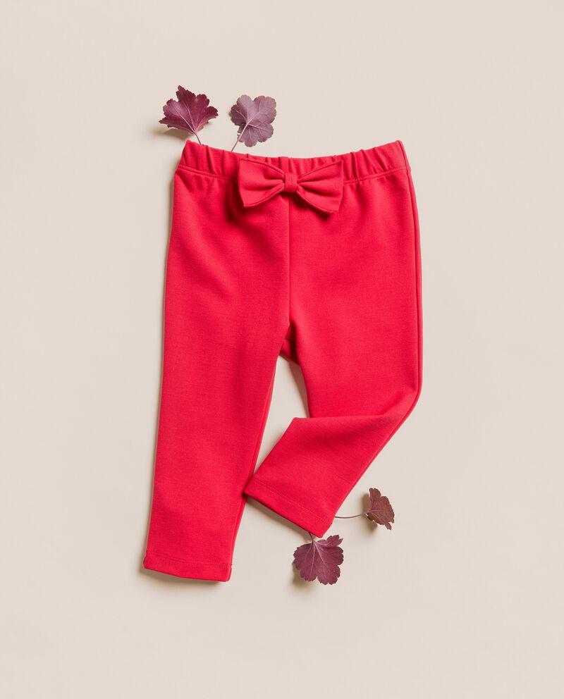 Pantaloni punto milano tinta unita IANA Made in Italy cover
