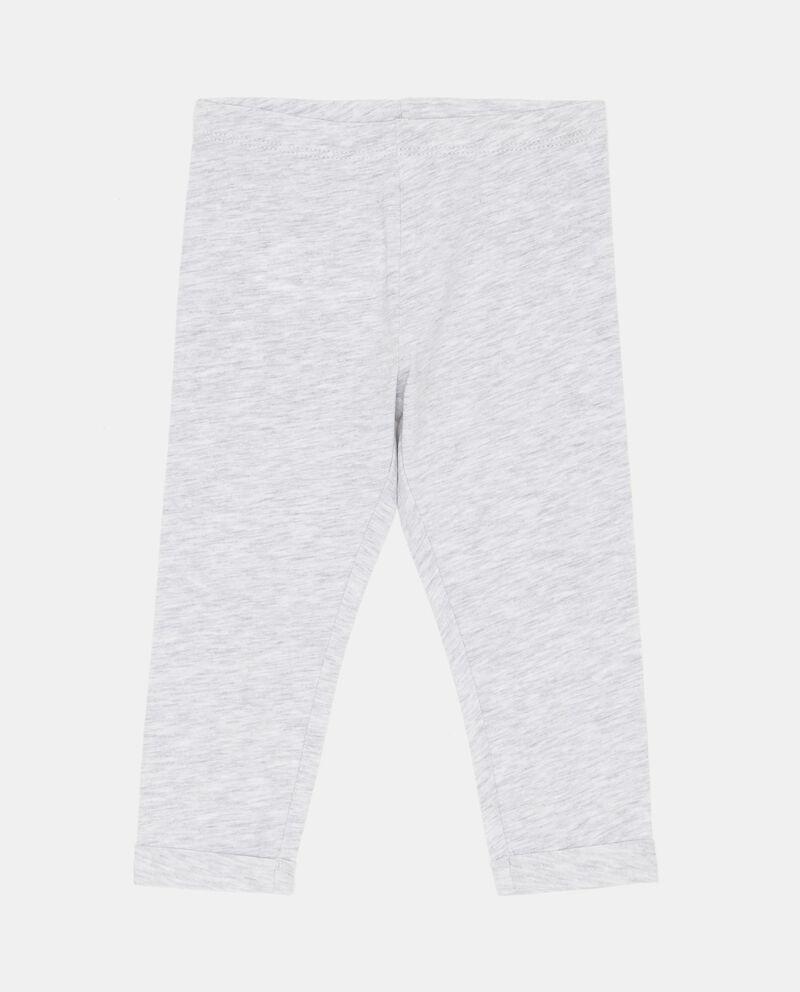 Pantaloni in cotone elasticizzato a tinta unita