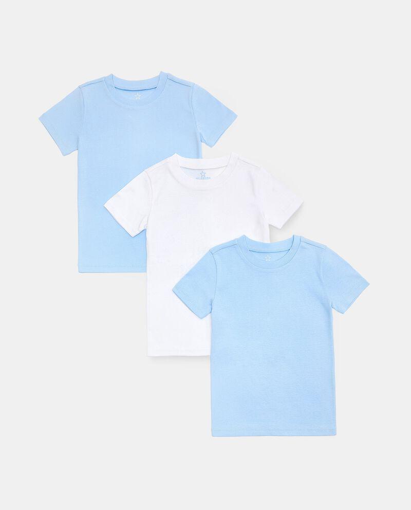 Set con 3 t-shirt intime girocollo in puro cotone biologico bambino cover