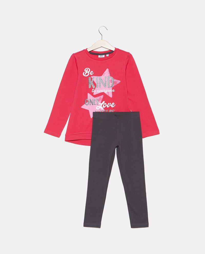 Set con maglia e leggings bambina cover