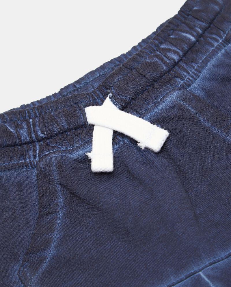 Shorts di felpa in cotone organico neonato single tile 1