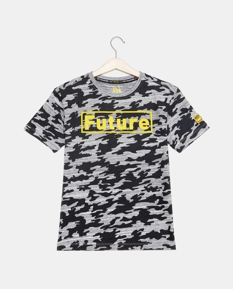 T-shirt con fantasia militare ragazzo