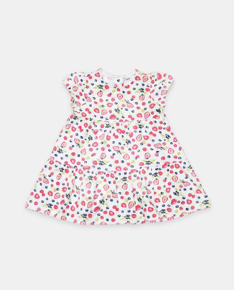 Vestito a balze in cotone organico neonata